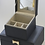Thumbnail: Small Navy Jewellery Box with Gold Bow