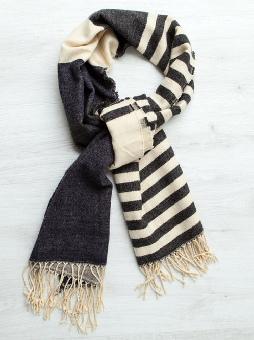 Gingerlilly Navy Stripe Scarf