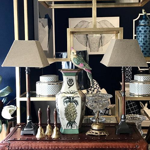 Timber & Pewter Desk Lamp