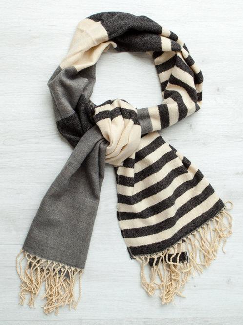 Gingerlilly Grey Stripe Scarf