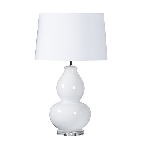 White Curve Lamp with White Shade