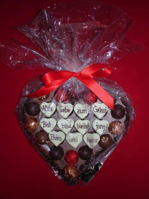 Schokoladen-Herz 25