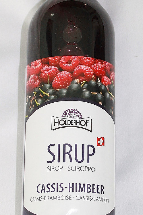 Cassis-Himbeer Sirup
