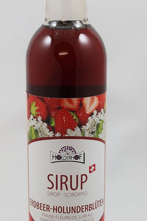 Erdbeer-Holunderblüten Sirup