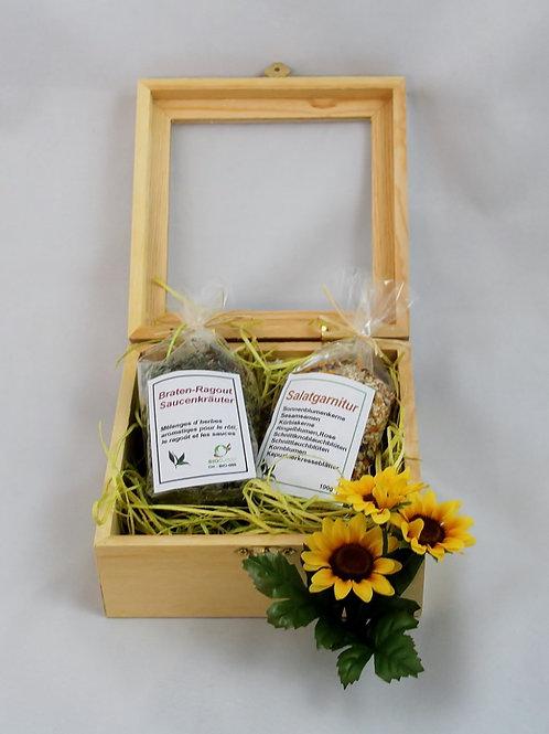 Geschenkbox mit Sichtfenster