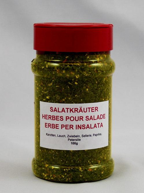 Salatkräuter mit Gemüse