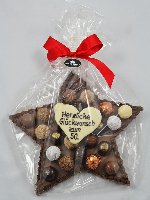 Schokoladen-Stern 25