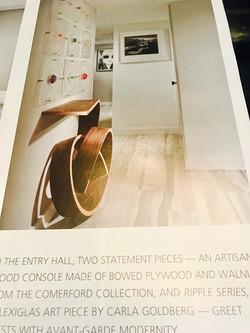 Design house magazine  article.