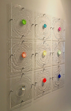 Ripple Effect collection on a grey wall at Chase Edwards Fine Art