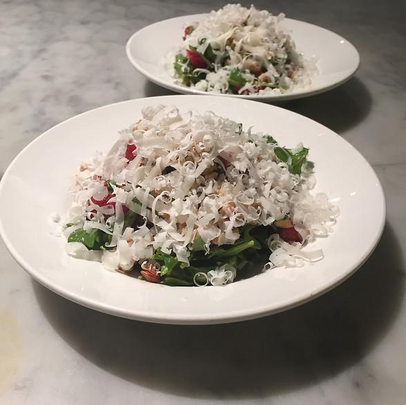 Farro Salad with Strawberries, Basil Vinaigrette and Parmesan