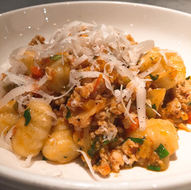 Potato Gnocchi with Ground Rabbit Pomodoro