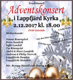 Adventskonsert_i_Lappfjärds_kyrka_2.12.2017_kl.18.00
