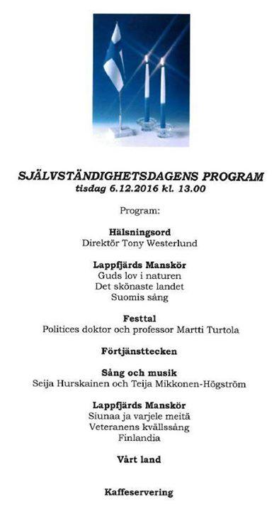 Självständighetsfestprogram