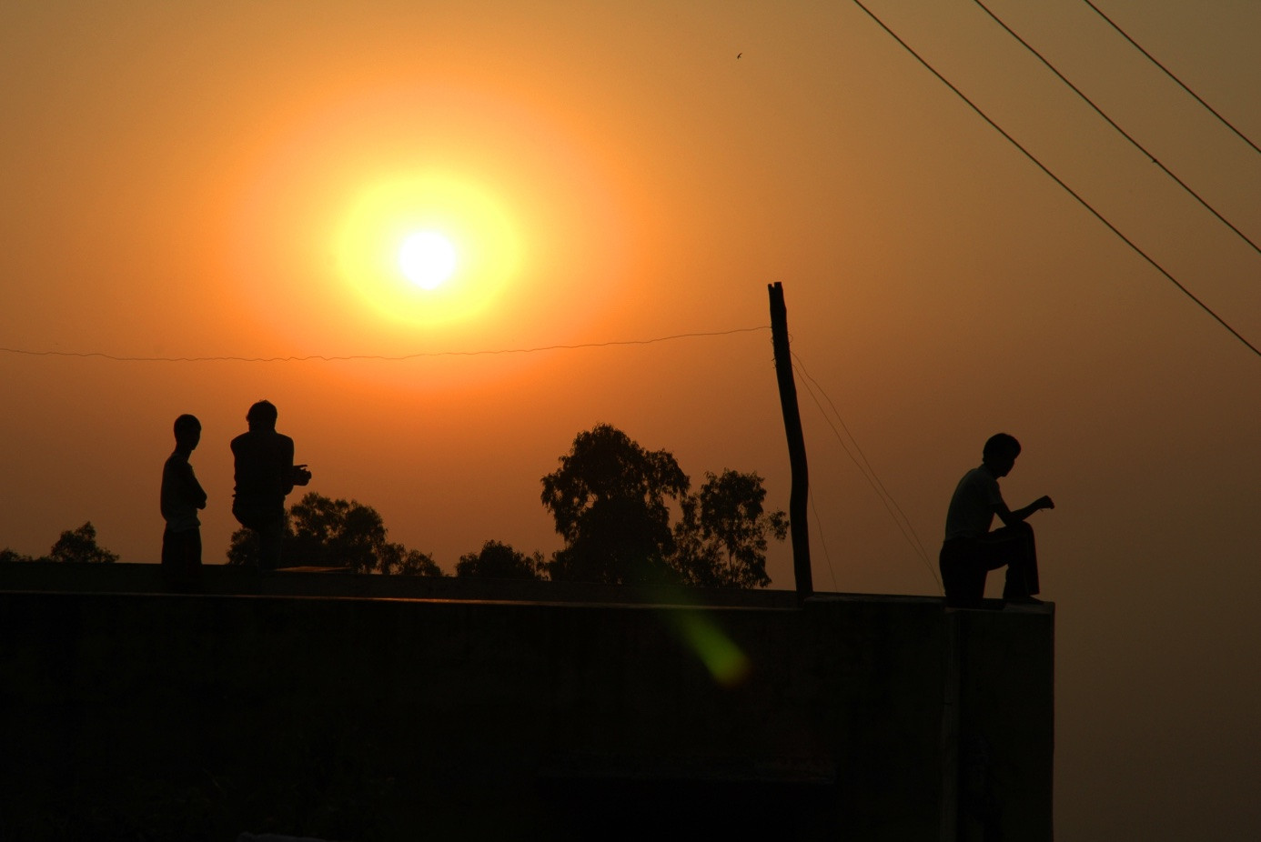 India Sunset Himalayas