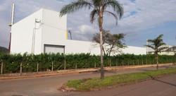 Foto do Galpão Concluído desde a Av.