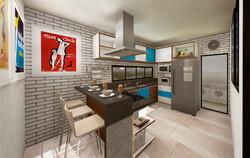 Vista da Cozinha Casa 01