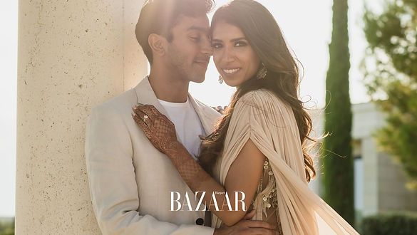 Sarika and Mik Amanzoe wedding Harper's Bazaar