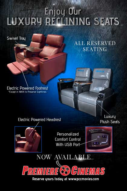 Promo Image for Premiere Cinemas New Reclining Seats