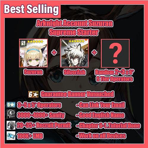 [Global] Arknights A9 Account Suzuran Supreme Starter