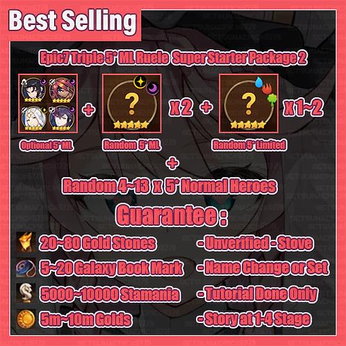 [All Server] Epic Seven Triple 5* Moon Light Supreme Starter Package 2