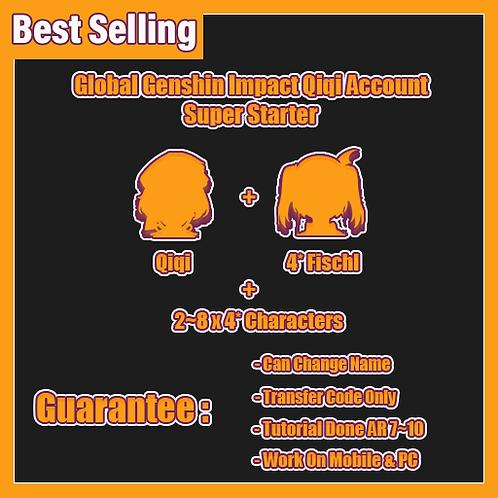 [Europe] Qiqi Genshin Impact GI Account Super Starter