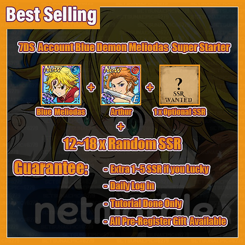 [Global/Asia] Seven Deadly Sins 7DS Account Blue Demon Meliodas Super Starter