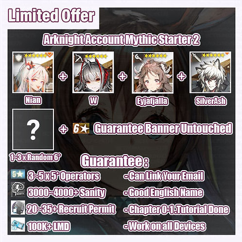 [Global] Arknights A9 Account Mythic Starter 2