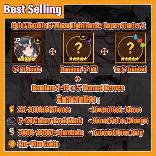 [All Server] Epic Seven Double 5* Moon Light Ruele Super Starter 2