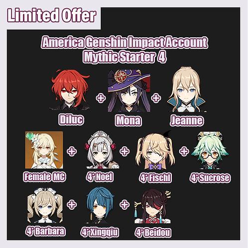 [America] Genshin Impact GI Account Mythic Starter 4