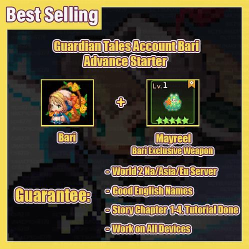 [NA/Asia/Eu] Starter Guardian Tales GT  Bari Advance Starter Account