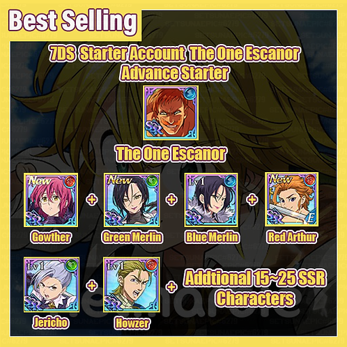 [Global/Asia] 7DS Account The One Escanor Advance Starter