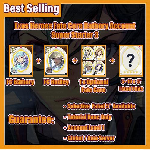 [Global/Asia] Starter Exos Heroes EH Account Fate Core Bathory Super Starter 3
