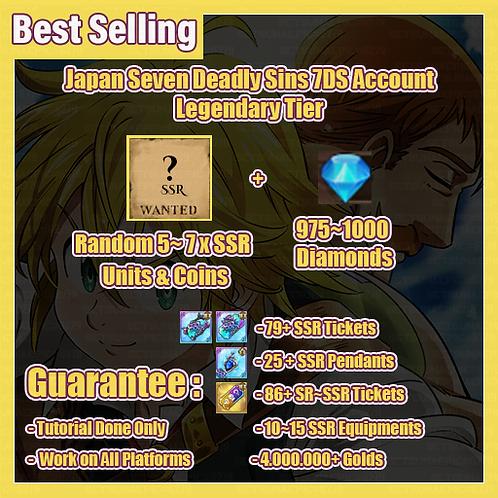 [Japan] 7DS Legendary Tier Super Resource Starter Account