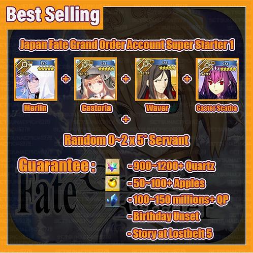 [Japan] Fate Grand Order FGO Account Super Starter 1