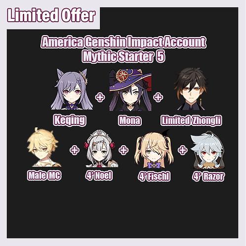 [America] Genshin Impact GI Account Mythic Starter 5