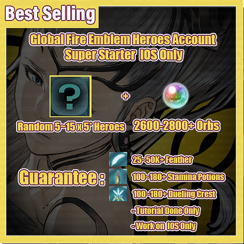 [Global | IOS Only ] Fire Emblem Heroes FEH Advance Starter
