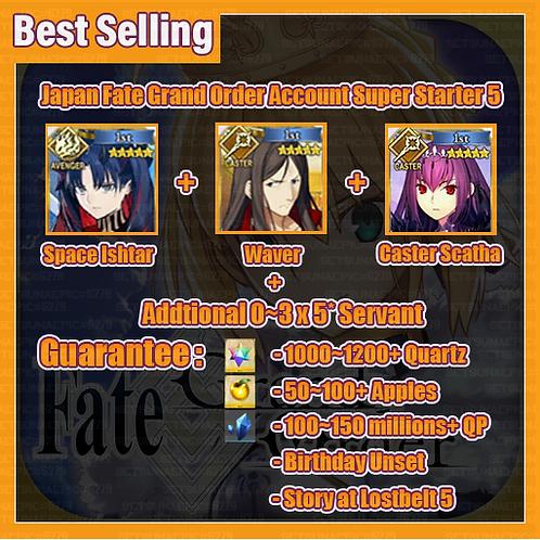 [Japan] Fate Grand Order FGO Account Super Starter 5