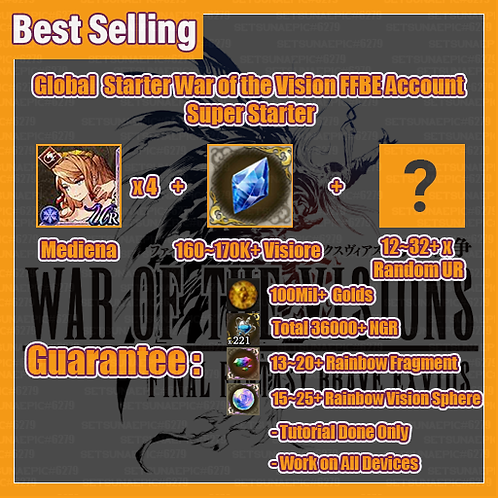 [Global] War of the Visions FFBE Account Super Starter
