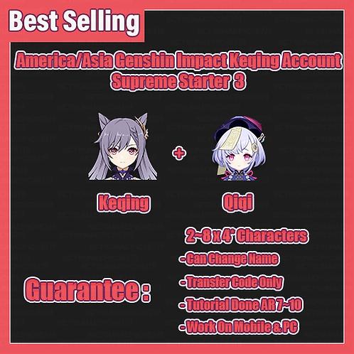 [America/Asia/Europe] Keqing Genshin Impact GI Account Supreme Starter3