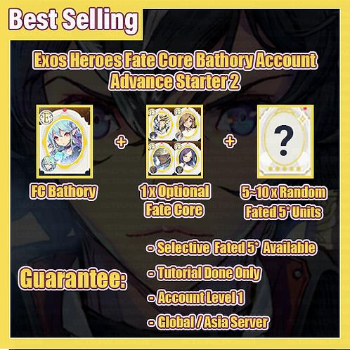 [Global/Asia] Exos Heroes EH Account Fate Core Bathory Advance Starter 2