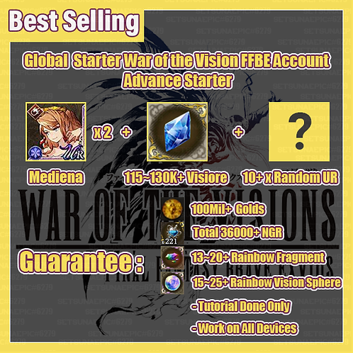 [Global] War of the Visions FFBE Account Advance Starter