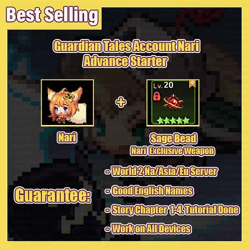 [NA/Asia/Eu] Starter Guardian Tales GT Nari Advance Starter Account