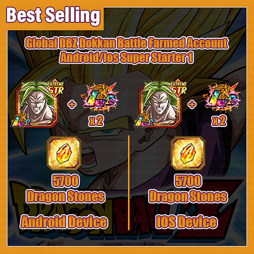 [Global | Android/Ios ] DBZ Dokkan Battle Farmed Account Super Stater 1