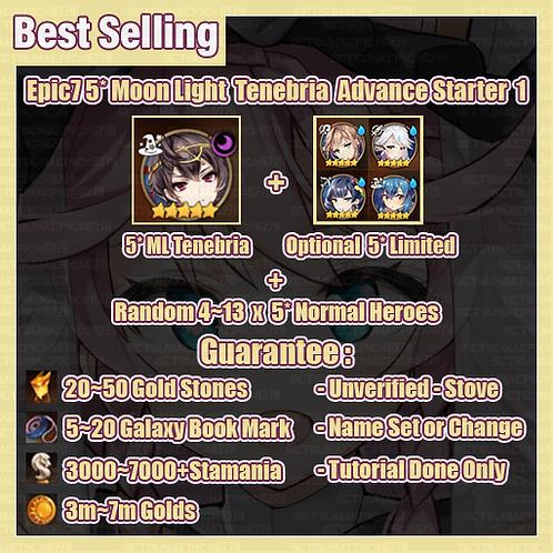 [All Server] Epic Seven Moon Light Tenebria Advance Starter Package 1