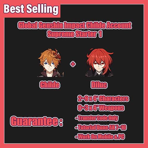 [All Server] Childe/Tartaglia Genshin Impact GI Account Supreme Starter 1