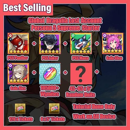 [Global] Dragalia Lost DL Account Persona 5 Supreme Starter