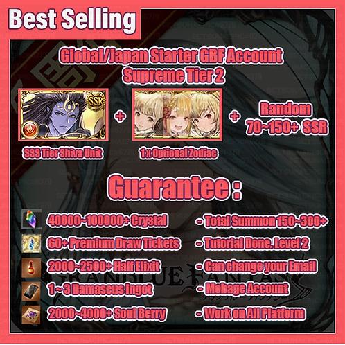 [Global/Japan] Granblue Fantasy GBF Starter Accounts Shiva Supreme Tier 2