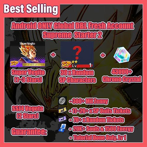 [Global | Android ] Dragon Ball Legends FRESH Account Supreme Starter 2