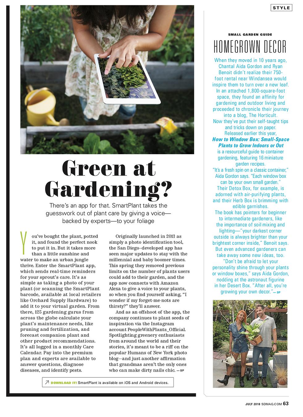 green thumb, smartplant app, smartplant, gardening applications, garden newspaper, gardening article, foilage, green plants, garden care, garden articles,