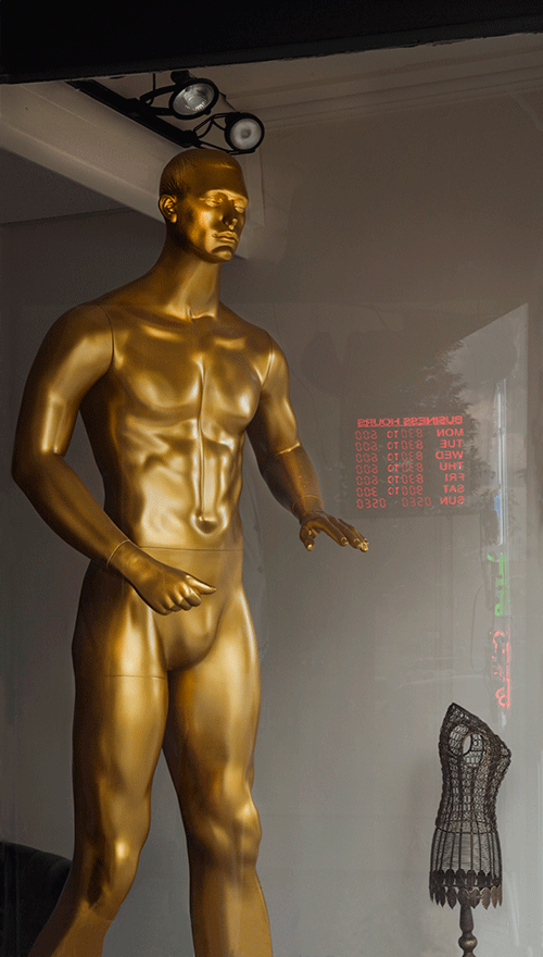 Golden Man, Dry Cleaners, Geneva, NY